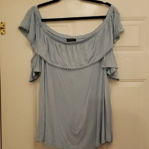 NWT Lane Bryant lt. blue off shoulder top